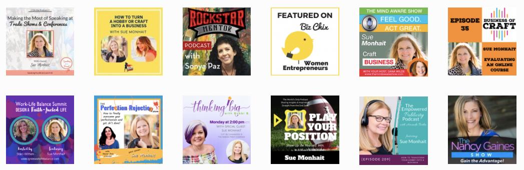 Podcast Appearances with Sue Monhait
