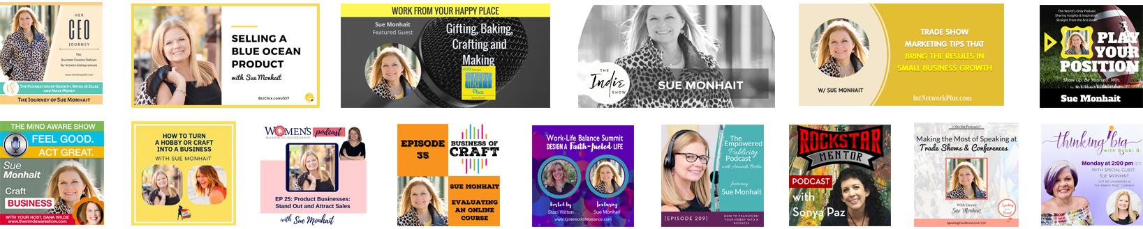 Sue Podcast Interviews