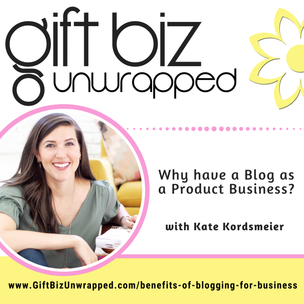 benefits of blogging for business with Kate Kordsmeier