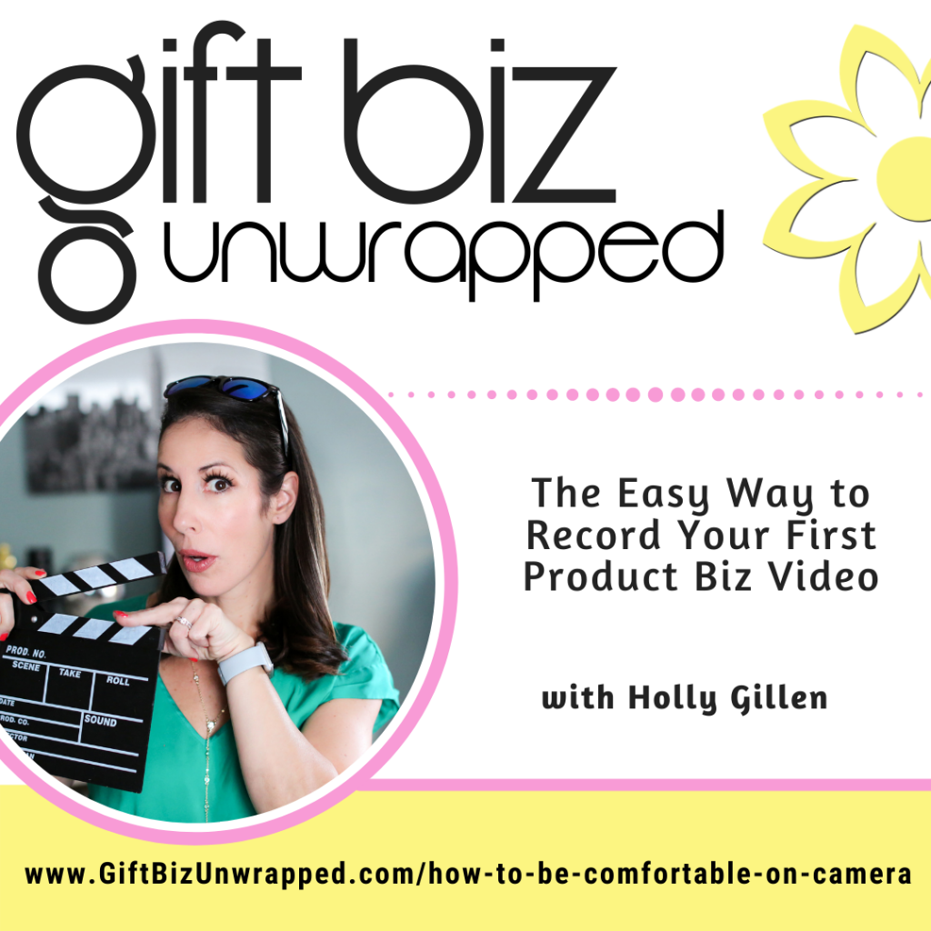 how to be comfortable on camera with Holly Gillen