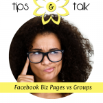 Woman wondering about Facebook Pages vs Groups